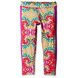PUMA Big Girls' Active Legging Capri, Swirl, 8-10 (Medium)