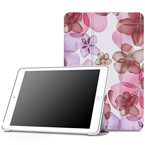MoKo Case Fit iPad Pro 9.7 - Slim Lightweight Smart Shell Stand Cover Case with Auto Wake/Sleep Fit Apple iPad Pro 9.7 Inch 2016 Release Tablet (Not fit New iPad 9.7 2017 Version), Floral Purple