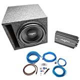 Skar Audio Single 12'' 1000 Watt Complete Subwoofer Bass Package - Includes Subwoofer in Ported Box with Amplifier