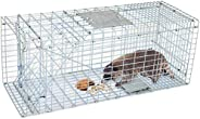 HomGarden Humane Live Animal Trap Catch Release Cage Large Nuisance Rodents Control Raccoon Mole Gopher Opossu