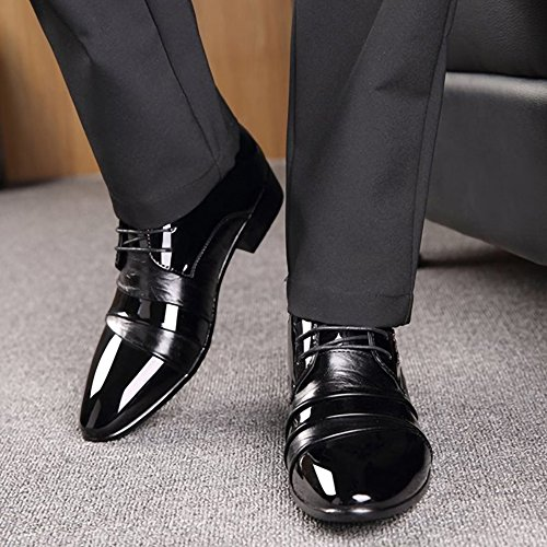 Footwear Solid Shoes Black Round Leather Handmade Oxfords Business Leisure Color Casual Men's Men Toe Classics 2018 q6pzwz