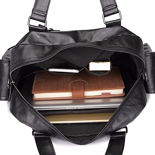 ZHUDJ Retro British Wind Pu Men'S Bag Multi-Pocket Men'S Business Information Casual Shoulder Messenger Bag Handbag Computer Bag, High 30X Width 38X Thickness 14Cm High 30X wide 38X thick 14CM or so