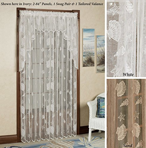 (Curtain Chic, Inc. Seashells Lace Tailored Panel)