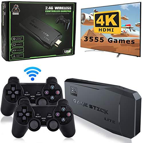 SUPER 통합 복고풍의 게임 콘솔 플러그 앤 플레이 비디오 게임 내장 3500 게임 9 클래식 에뮬레이터 높은 정의 HDMI 출력을 TV 4K 콘솔 듀얼 2.4G 무선 컨트롤러-32G