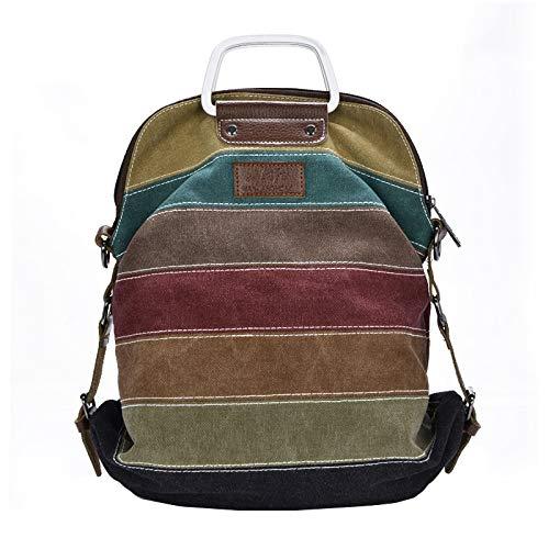 YZBB Satchel Bag,   Sommer Casual Handtasche, Canvas Multi-Verwendung Weibliche Tasche, Single-Schulter-Koreanische Version Rucksack.