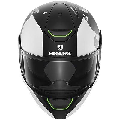 Shark unisex-adult full-face style Skwal Instinct Matte Black White Silver Helmet
