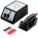 Belle 20000RPM Electric Nail Drill Manicure Pedicure Machine for Acrylics Gel Nails,110V,Black