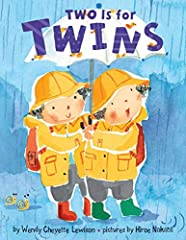 What makes two? All sorts of things. A bicycle's wheels. A bluebird's wings. And twins, as you can plainly see, Are just as two as two can be. This brightly illustrated board book is a buoyant, bouncy ode to the joys of twindom. Perfect for c...
