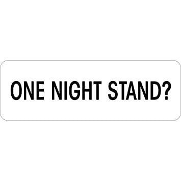 amazon com one night stand name tag 1 x 3 name tag