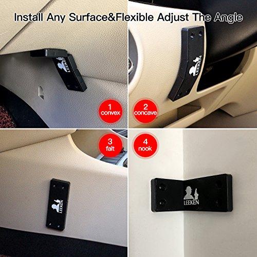 gun magnet mount with 3m tape holster multi angle adjustable design never damage car or desk
