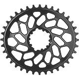 absoluteBLACK SRAM CX Oval Direct Mount Chainring Black/6mm Offset, 36t (Color: Black/6mm Offset, Tamaño: 36t)
