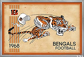 Trends International Cincinnati Bengals – Retro Logo Wall Poster, 24.25 X 35.75 , Multi