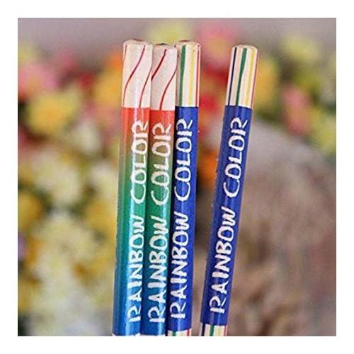 Dingdangbell 10 Pcs Lot Arc En Ciel Couleur Crayon 4 En 1