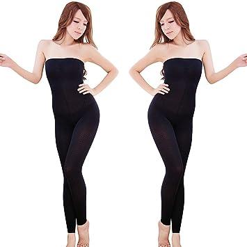 eea1a16da7573 Women 2019 Leg Shaper Pants Shapewear Thigh Slimmer Waist Sculpting Sleep  Legging Bodysuit Socks (Black