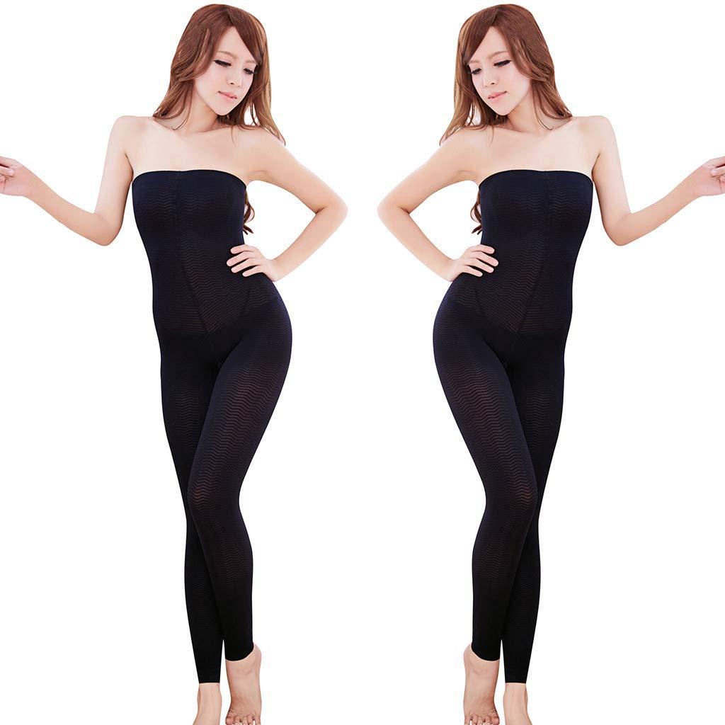 YunZyun Women's Soft High Waisted Yoga Pants Full-Length Leggings Sleep Leg Shaper Pants Legging Body Shaper Footsteps (Black, L)