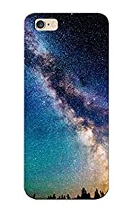 Fireingrass High-quality Durability Case For Iphone 6 Plus(nature Sky Night Scenic View Sci Fi Science Fiction Stars Galaxy Milky Way Dust Color Trees Mountain Forest )