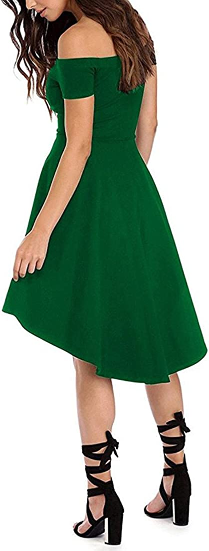 Clearlove Womens Evening Dress Sleeveless Cocktail Dress Elegant Asymmetrical Party Dress