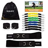 XCELER8 Athletics DYNAMX Trainer Speed and Agility Training Leg Resistance Bands for All Sports | Includes Ankle Straps | Training Videos | Fast Sprinting, Explosive, Agile, Strength, Endurance