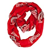 NCAA Ohio State Buckeyes Sheer Infinity Scarf, One Size, Red
