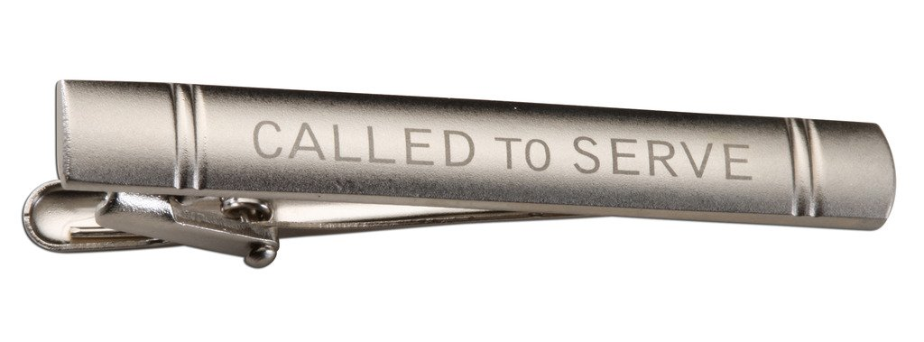 LDS Missionary ''Called to Serve'' Tie Bar for Elders (Silver Tone)