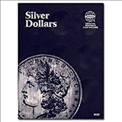 """Whitman folders are an affordable, convenient method of storing and displaying your coin collection. Each folder measures 5.75"""" x 7.75"""" when closed to easily fit on your bookshelf. The exterior of the album is grained blue with embossed text...."""