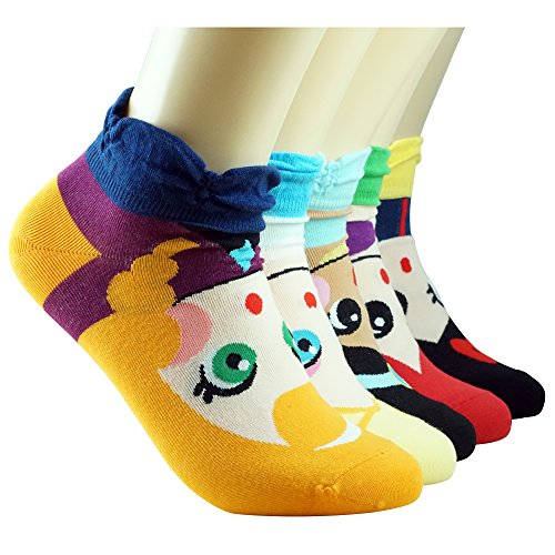 [WiLLBee Cute Cartoon Animation Character Casual Gift Socks for Women Girl Boy Kids (Princess 5 Set)] (Female Superheroes And Villains)
