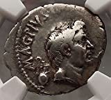 Julius Caesar Enemy Pompey the Great son Sextus NGC VF AR Roman Coin...