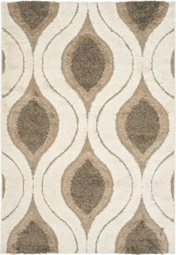 Safavieh Shag Cream Smoke Round Rug