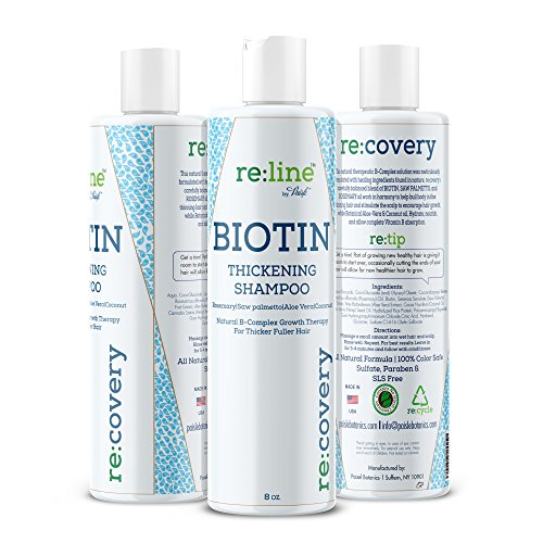 Biotin Shampoo For Hair Growth Thickening Shampoo For Hair Loss All Natural For Thinning Hair Rosemary Aloe Vera Coconut For Women Men Sulfate Free Paraben Free Safe For Color Treated Hair