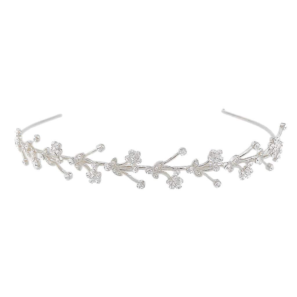 Oro Baoblaze Diadema de Diamantes Casco Nupcial Corona Reina Ornamentos Diarios Estilo Barroco