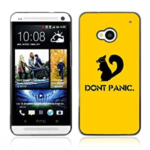 Designer Depo Hard Protection Case for HTC One M7 / Don't Panic Squirrel