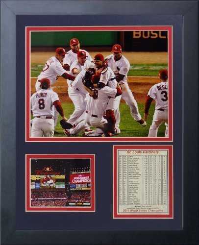 Legenden Sterben Nie 2011 St. Louis Cardinals Field Celebration Gerahmtes Foto Collage, 11 x 35,6 cm von Legends Never Die