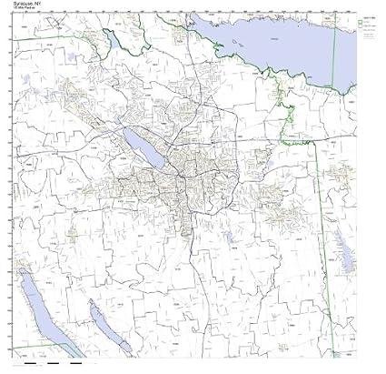 Amazon.com: Syracuse, NY ZIP Code Map Laminated: Home & Kitchen