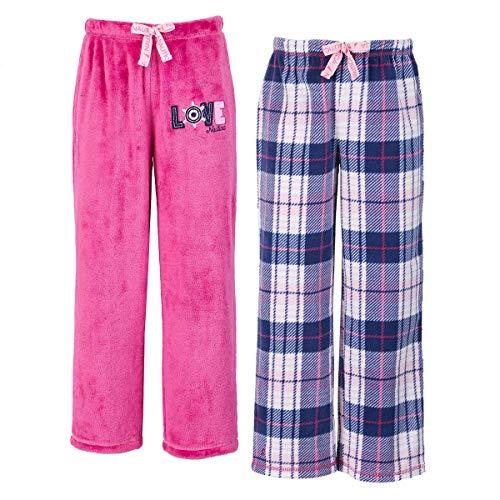 (Nautica Girls 2-Pack Sleep Pants (Pink Plaid, 7))