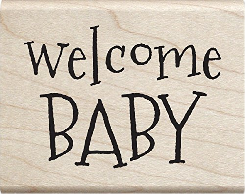 Baby Stamp - Hampton Art Welcome Baby Janet Dunn Mounted Stamp 2