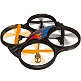 Haktoys HAK907 2.4GHz 4 Channel 17 RC Quadcopter, 6 Axis Gyroscope, Loop Function, LED Light, and Camera-Ready (Camera not Included) (Does NOT Require Drone Registration)