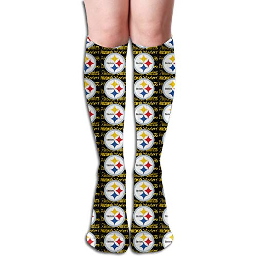 Marrytiny Custom Colourful Pittsburgh Steelers Football Team Creativity Novel Women's Long Socks Girls Trendy Stocking