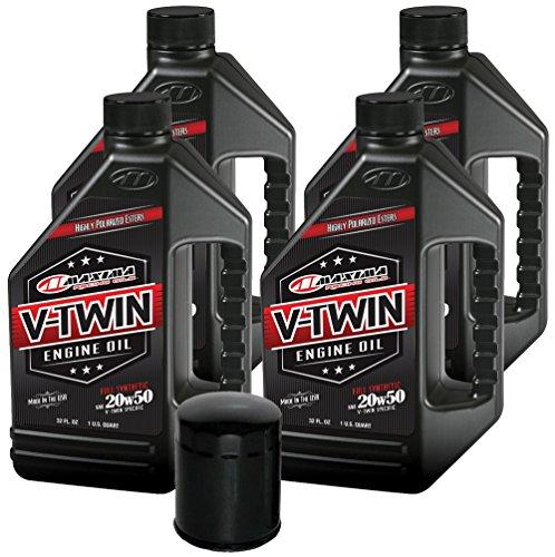 MaximaHiflofiltro VTEOCK10 Full Synthetic Engine Oil Change Kit for Harley Davidson Sportster V-Twin