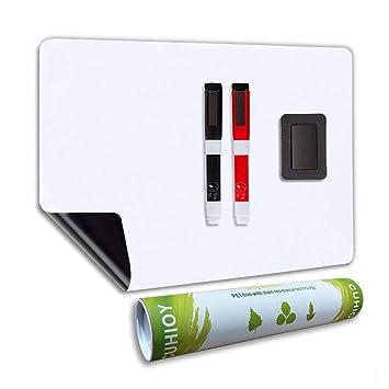 Pizarra Magnética Blanco con Nueva Tecnología Resistente a las Manchas, Pizarra de Nevera utilizada para Recordatorios en el Hogar y Avisos de Oficina ...