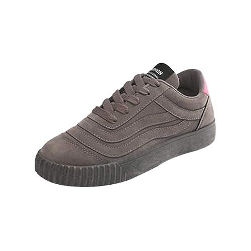 Juleya Mocasines con Cordones Planos para Mujer Tacones Bajos Planos Mocasines cómodos Oficina de conducción Deporte Zapatos para Caminar: Amazon.es: ...
