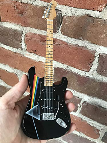 FanMerch Guitar Pink Floyd Dark Side of The Moon Tribute Miniature Guitar - Fender Stratocaster