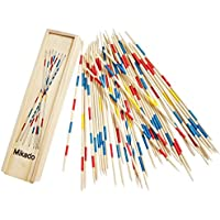 Trinkets & More - Mikado | Wooden 31 Pick-Up Sticks | Best Return Gift | Fun Family Indoor Board Game for Adults and Kids 5+ Years (Pack of 2)