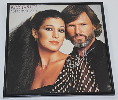 (Kris Kristofferson Natural Act Authentic Signed Autographed Lp Record Album with Vinyl Framed Loa)