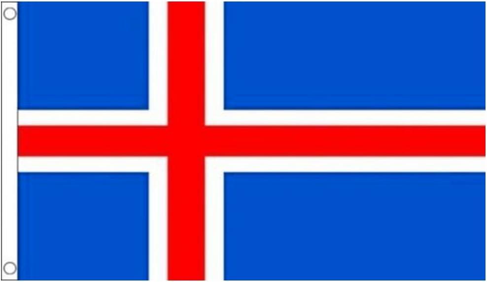 150 x 90 cm Naicasy Bandera de Islandia