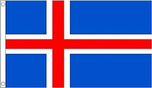 Naicasy Bandera de Islandia (150 x 90 cm): Amazon.es: Hogar