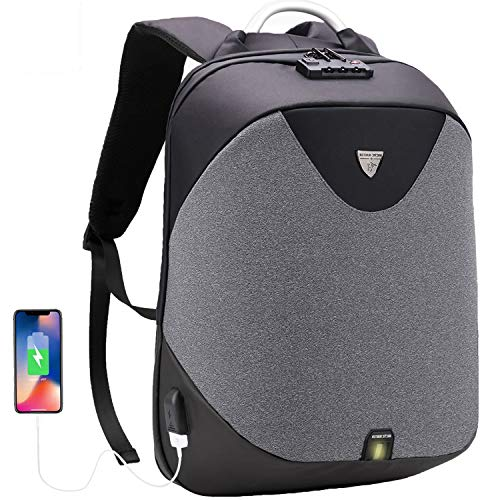 GinCuky Laptop Briefcase Backpack 3 Way Convertible Shoulder Messenger Bag Business Anti-Theft Backpack 15.6 Inch for Student, College, Work ()