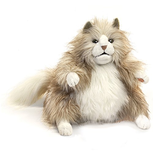 Folkmanis Fluffy Cat Hand Puppet - Hand Puppets Folkmanis Cat