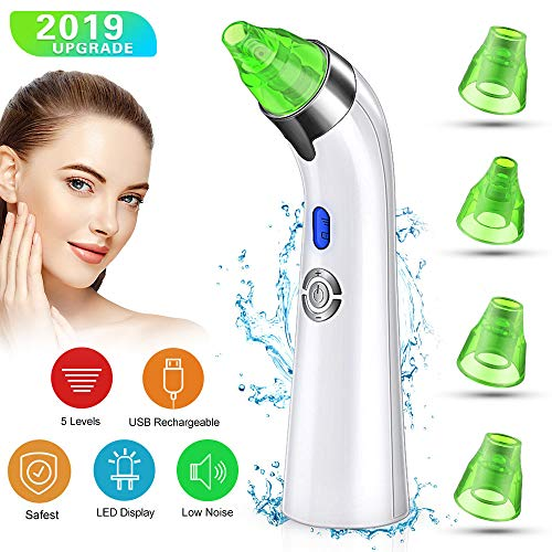 【2019 Upgraded】Blackhead Remover Vacuum - Facial Pore Deep Cleaner Electric Acne Comedone Extractor Kit with Latest Vacuum Technology & Power Suction, Perfect for Skin Deep Cleaning &Treatment