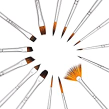 Dainayw Art Detail Paint Brushes Set, 15-Piece Fine Paintbrushes for Acrylic Oil Watercolor, Model Painting, Artist Face and Body Professional Painting Kits