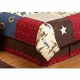 Sweet Jojo Designs Wild West Cowboy Western Horse Queen Kids Children's Bed Skirt